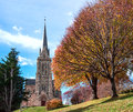 Bariloche argentina cathedral of the city of patagonia Royalty Free Stock Photography
