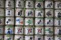 Barilotti di causa meiji jingu shrine tokyo japan Immagini Stock