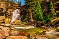 Baring Falls at St. Mary Lake in GNP Royalty Free Stock Photo