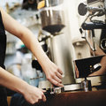 Barista Cafe Making Coffee Preparation Service Concept Royalty Free Stock Photo