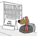 Bark Stops Here Royalty Free Stock Photo