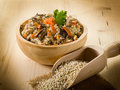 Barley risotto with mushrooms Stock Photo