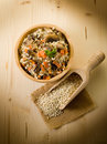 Barley risotto with mushrooms Stock Photography
