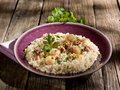 Barley risotto with  sepia Stock Photography