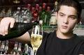 Odlévání šampaňské
