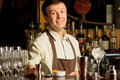 A barman at work Royalty Free Stock Photography