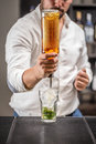 Barman at work Royalty Free Stock Photo