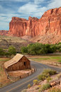 Barn, Capital Reef National Park Stock Photo