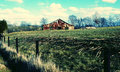 Barn in the country taking a walk on a road Royalty Free Stock Images