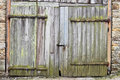 Barn door rustic as a background image Royalty Free Stock Photography