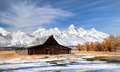 Barn in Grand Teton National park Royalty Free Stock Photos