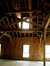 The barn lights a in a south carolina plantation has great light with great textures Royalty Free Stock Photos