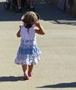 Barn på den los angeles county mässan Arkivfoto