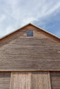 Barn roof with blue sky background top of Royalty Free Stock Image