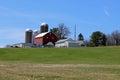 Barn and silos Royalty Free Stock Photo