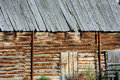 Barn Wall of Logs Royalty Free Stock Photo