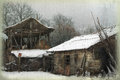 A barn in winter Royalty Free Stock Images