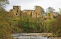 Barnard castle ruins england the picturesque of on the river tees in county durham Royalty Free Stock Photography