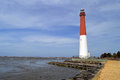 Barnegat lighthouse view of off the jetty Royalty Free Stock Image