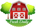 A barnhouse with a fresh daily label Royalty Free Stock Photography