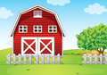 A barnhouse at the hilltop illustration of Royalty Free Stock Photos