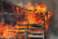 Barns on fire Royalty Free Stock Photo