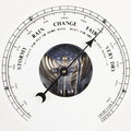 Barometer dial set to fair Stock Image