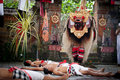 Barong - a character in the mythology of Bali Royalty Free Stock Images