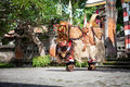 Barong dance show indonesian mythology perform fight between good evil Stock Photos