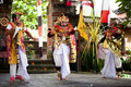 Barong perfomance actors Bali Indonesia Stock Photo