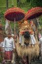Barong and villager at Tampak Siring, Bali, Indonesia Royalty Free Stock Photography