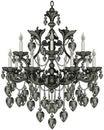 Baroque Black Chandelier Royalty Free Stock Photo