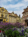 Baroque buildings in Prague Old Town Square Royalty Free Stock Photo