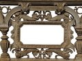 Baroque cast iron frame Stock Photos