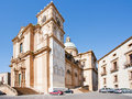 Baroque Cathedral in town Piazza Armerina Royalty Free Stock Photography