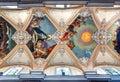 Baroque ceiling Basilica della Collegiata, Catania, Sicily, Italy Royalty Free Stock Photo