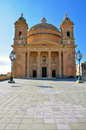 Baroque church in malta mgarr Royalty Free Stock Photo