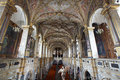 Baroque church nave richly decorated Royalty Free Stock Photography