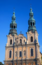 Baroque church towers in poznan Royalty Free Stock Images