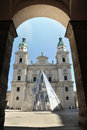 The baroque dome cathedral of Salzburg, Austria Stock Images
