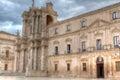 Baroque duomo syracuse sicily italy the and facade in orgtigia siracusa Royalty Free Stock Photos