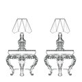 Baroque Elegant lamp table