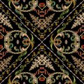 Baroque embroidery vector seamless pattern. Geometric abstract s
