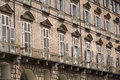 Baroque facade of a building in turin at piazza castello italy Stock Photography