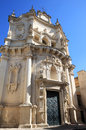 Baroque facade of chiesa di san matteo lecce italy the church in the italian town is a notable church built at the end the th Royalty Free Stock Images