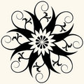 Baroque floral decoration Royalty Free Stock Photo