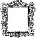 Baroque frame vector drawing of ancient in a style Royalty Free Stock Images
