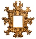 Baroque Gold Plated Wooden Picture Frame with Path Royalty Free Stock Photo