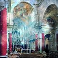 Baroque interior church with stars divine presence concept of s faustino brescia italy Royalty Free Stock Image