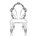 Baroque luxury style chair isolated
